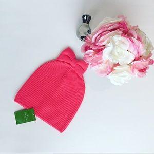 NWTs Kate Spade Pink Bow Wool Beanie